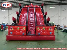 inflatable slide with dual lanes, PVC inflatable slide/ red giant inflatble bouncer