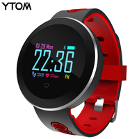 YTOM Smart Watch Clock Men Women Sport Bluetoth Smart Wristband With Blood Heart Rate IP68 Waterproof