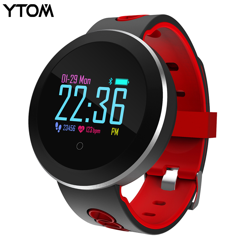 YTOM Smart Watch Clock Men Women Sport Bluetoth Smart Wristband With Blood Heart Rate IP68 Waterproof Smartwatch For Android IOS