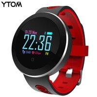 YTOM Smart Watch Clock Men Women Sport Bluetoth Smart Wristband With Blood Heart Rate IP68 Waterproof