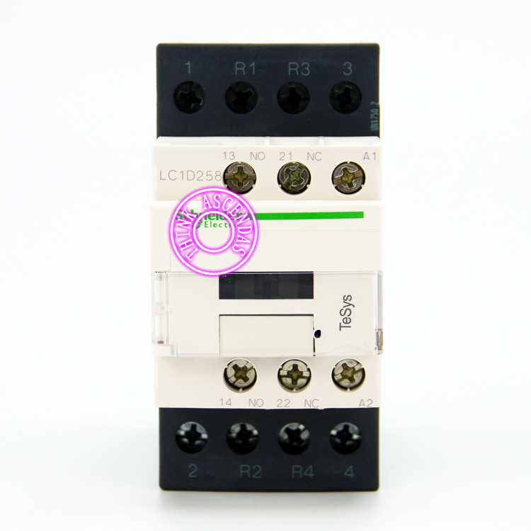TeSys D Contactor 4P LC1D258 LC1D258GD 125V / LC1D258JD 12V / LC1D258KD 100V / LC1D258LD 200V / LC1D258MD 220V DC sayoon dc 12v contactor czwt150a contactor with switching phase small volume large load capacity long service life