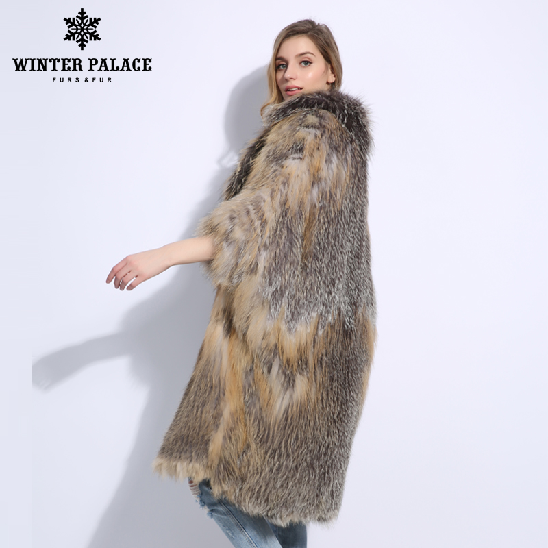 Fashion Luxurious Latest Color Women Natural Real Fox Fur Coat Comfortable Soft Fox Fur Knitted Real Fur Coat Warm Grace Jacket - 2