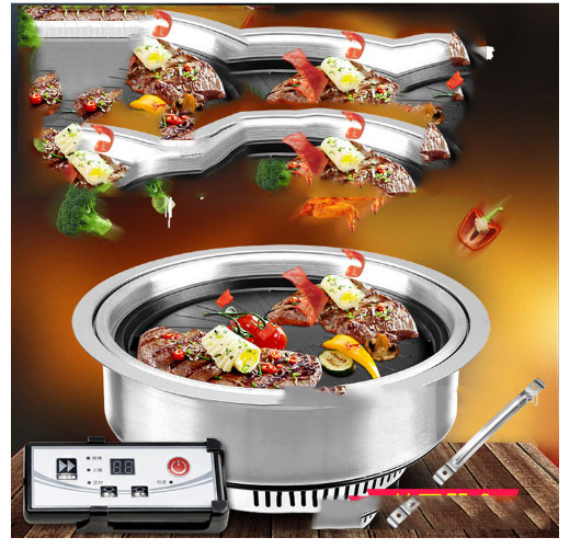Korean style electric oven smoke free infrared paper barbecue  electric ceramic micro crystal oven Korean Electric Grill Oven Korean style electric oven smoke free infrared paper barbecue  electric ceramic micro crystal oven Korean Electric Grill Oven