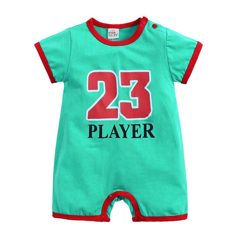 2019 летняя одежда для маленьких мальчиков комбинезон с коротким рукавом и принтом 23 комбинезон для новорожденных Одежда для мальчиков Детский комбинезон для детей от 0 до 24 лет
