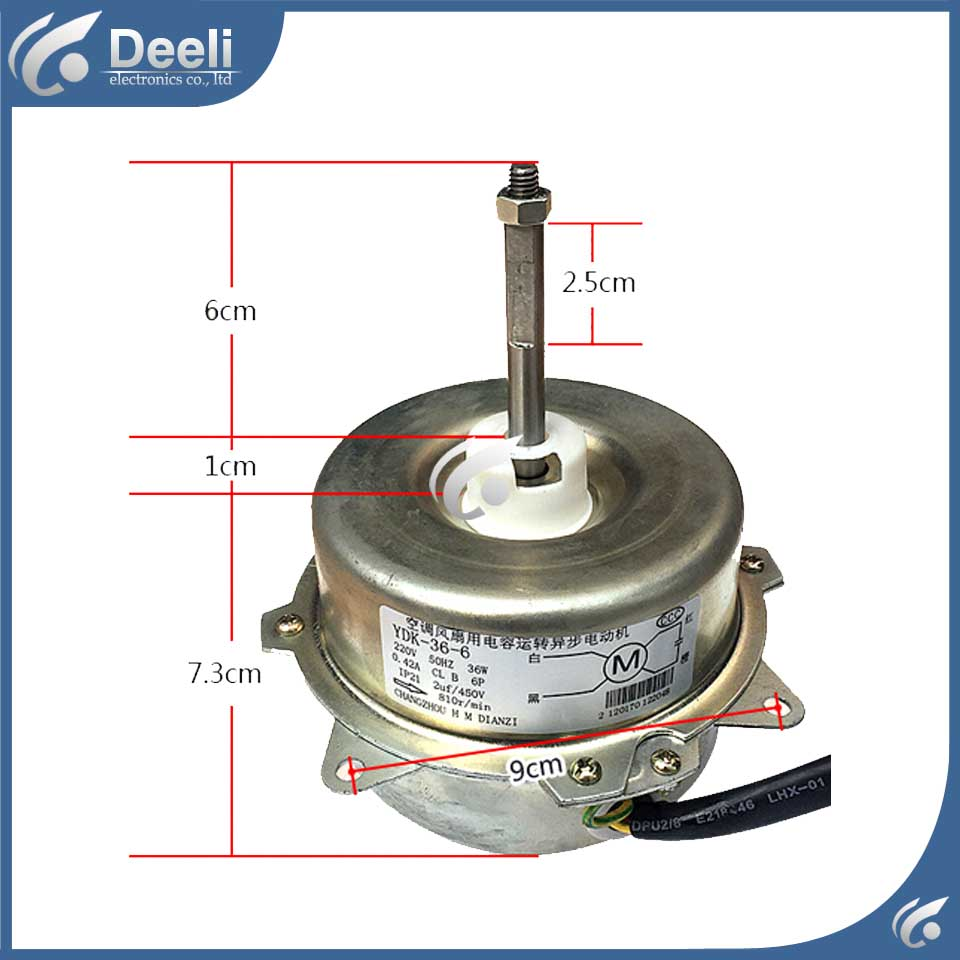 new good working for Air conditioner inner machine motor YDK 36 6 Motor fan 36W 220V