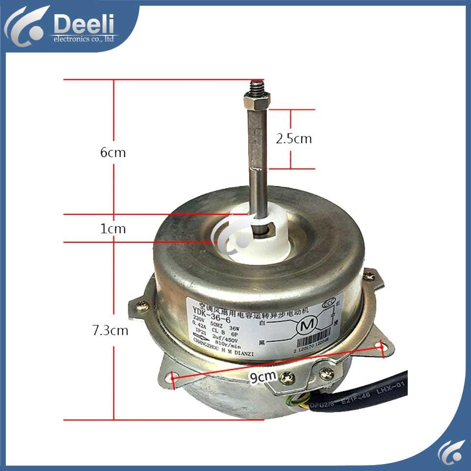 цена new good working for Air conditioner inner machine motor YDK-36-6 Motor fan 36W 220V