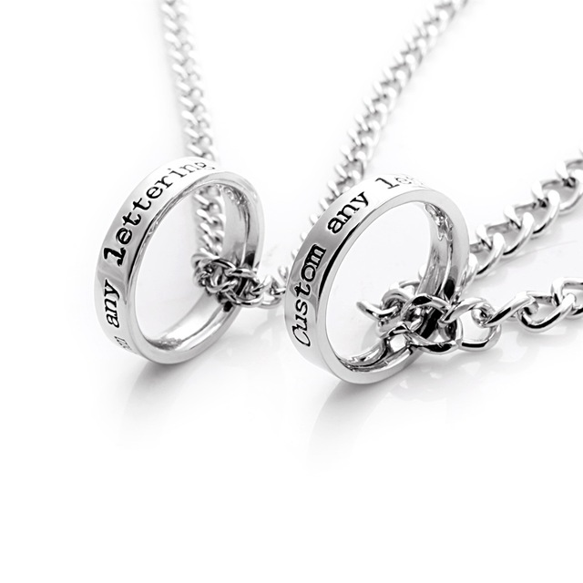 858a7ba0f8 Customized Fashion Personnality Pendent Necklace,Friendship Necklace, Boyfriend/Girlfriend Necklaces,Matching Couple Jewelry