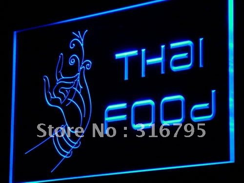 i977 Thai Food Thailand Restaurant Cafe NR Light Sign On/Off Swtich 20+ Colors 5 Sizes