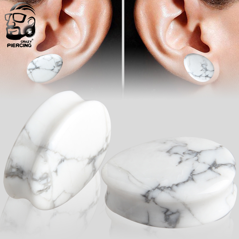 Ear Expander Ear Piercing 1 Pair Of Natural Stone Teardrop Ear Plugs Water Drop Piercing Body Jewelry Piercing Plug Tunnels 5 25 Body Jewelry Aliexpress