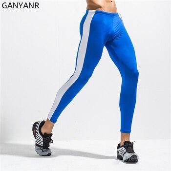 GANYANR Laufhose Männer Basketball Yoga Hosen Gym Leggings Compression Hose Fitness Sportlich Sport Bodybuilding Winter