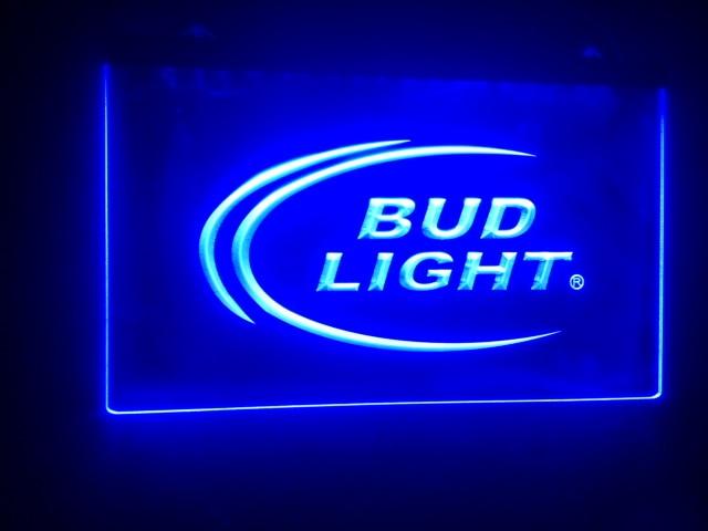 b08 Bud Light beer Bar pub club 3d signs LED Neon Light