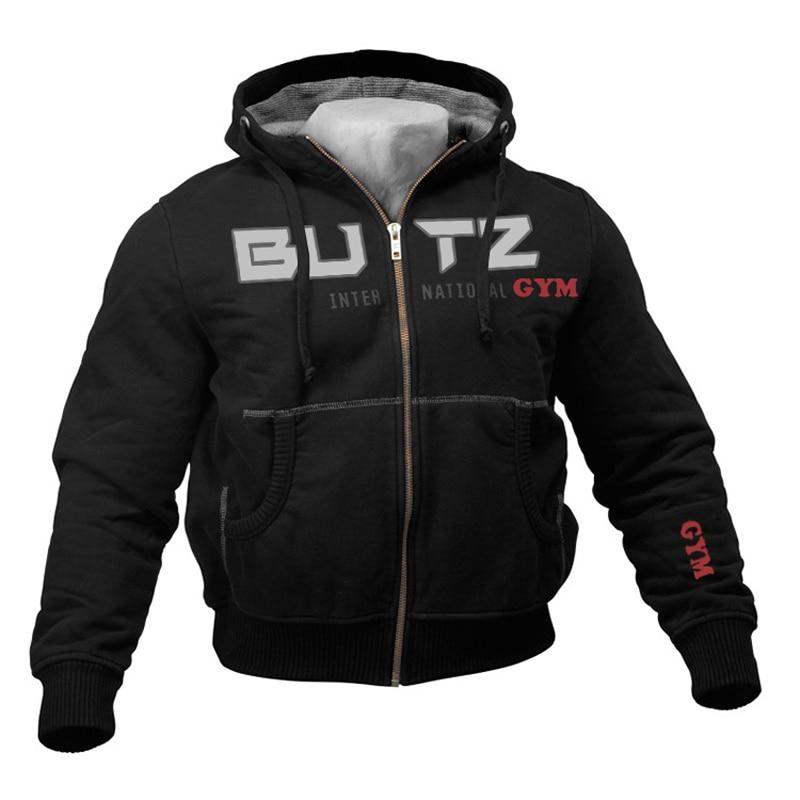 Thin Black Sweatshirt Men Hooded For Men Fitness Bodybuilding Hoodies Sweatshirts Zipper Big Pocket Hoodie Men Long Sleeves