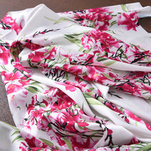 Free Shipping 19M/M Silk Elastic Satin Fabric For High Grade Dress