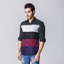 Brand New Men s Casual Shirt Social Striped Shirt Full Sleeve Turn Down Collar