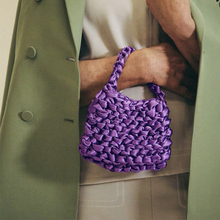 Fashion Luxury Women Bags Designer Hand Woven Silk Rope Knot Bag Hollow Evening Clutch Female Beach Holiday Handbag