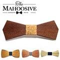 2017 homens Quentes Da Moda de madeira arco laço Acessórios do casamento Evento Gravata Para Os Homens gravata Borboleta Gravata De Madeira folhosa Gravata