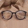2016 Nueva Ronda Mujeres Hombres Gafas gafas Retro Marcos Ópticos de Miopía Gafas de Marco de Metal Placa de Nubes