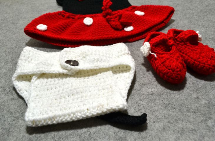 3e11a21683f 1set Cute Infant Photo Props Baby Crochet Mickey Mouse Hat Skirt Pants  Shoes Sets Toddler Hat ect. 4pcs -in Hats   Caps from Mother   Kids on  Aliexpress.com ...