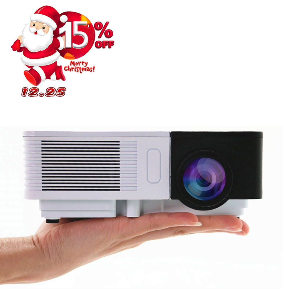 CAIWEI HD 1080p HD Mini Projector Portable 100LM Outdoor Home Theater Cinema Movie TV Smart Phone Projection portable mini projector home cinema digital smart led projectors support 1080p movie pc video game can use mobile power supply