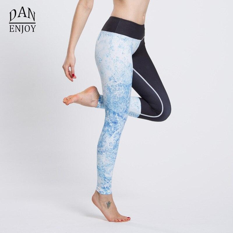 Patchwork Flora Sport Leggings Yoga Fitness Leggings Quick-drying Running Pants Women Slim Compression Tight Female Sportswear