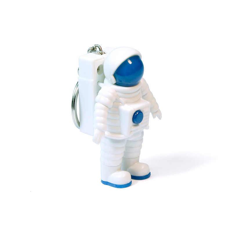 Robô Astronauta Astronauta Chaveiro LEVOU Luz Soando Ficção científica Cósmica Terra Tema keychian Brinquedo Crianças Presentes