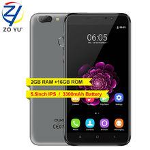 Oukitel U20 плюс смартфон 4gandroid 6.0 Quad Core 2 г + 16 г двойной Камера Мобильный телефон 5.5 HD MTK6737T 3200 мАч 13.0MP сотовый телефон