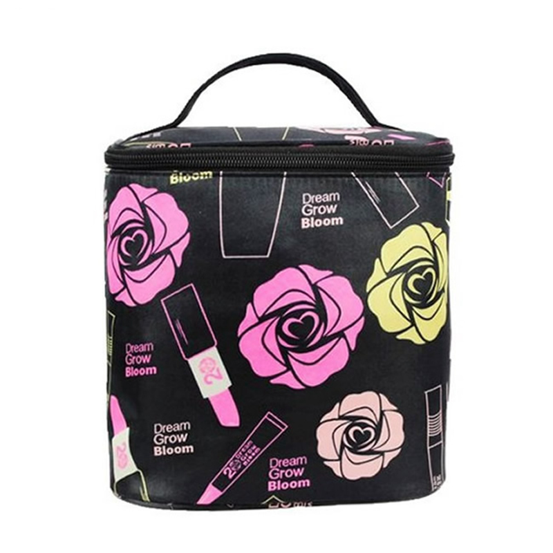Fashion Floral Roses Cosmetic Bag Large Travel Lady Makeup Bag Toiletry Bag Organizer Makeup Cases Women Trousse Maquillage