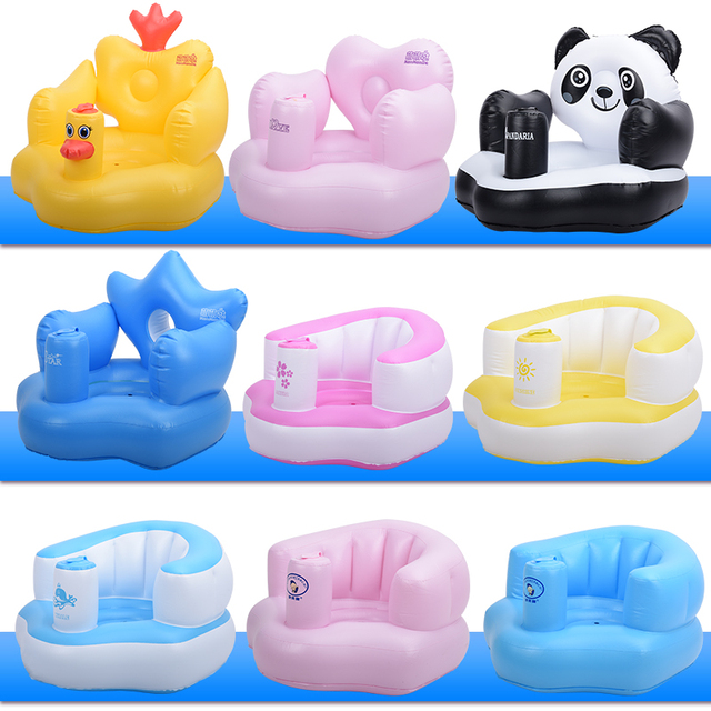 Free shipp Baby Learning Seat Inflatable Inflatable Sofa Child Inflatable Seat Baby Chair Portable Bath Stool Thickening et002