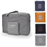 Sıcak Oxford bez saklama çantası Basit Taşınabilir Katlanabilir Seyahat Çantası Bagaj çanta Erkekler & Kadınlar Yatılı Çantası makyaj organizatör 4 renk