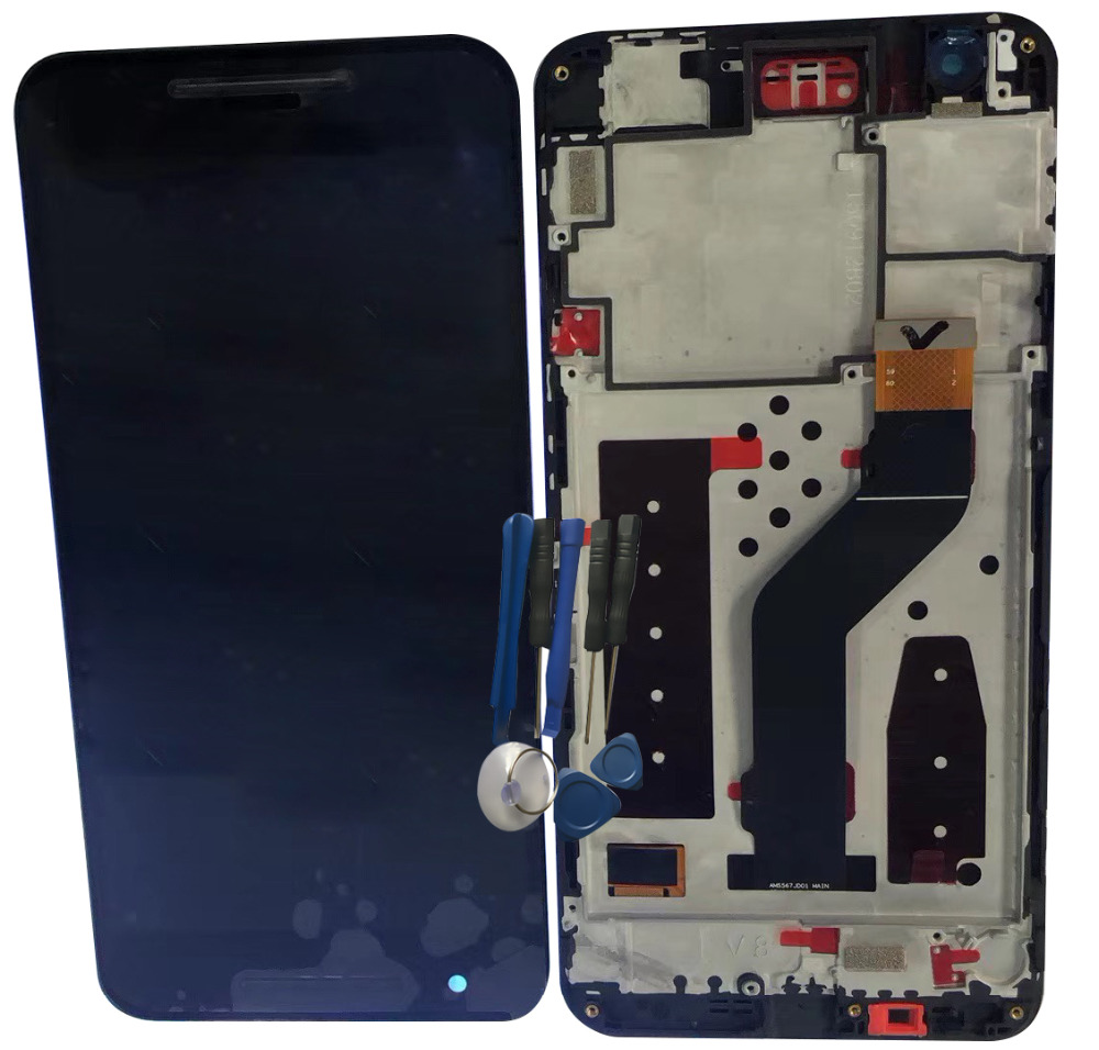 BINYEAE For Huawei Google Nexus 6P LCD Display Touch Screen Digitizer Assembly With Frame Replacement Parts Black+tool 2560x1440BINYEAE For Huawei Google Nexus 6P LCD Display Touch Screen Digitizer Assembly With Frame Replacement Parts Black+tool 2560x1440