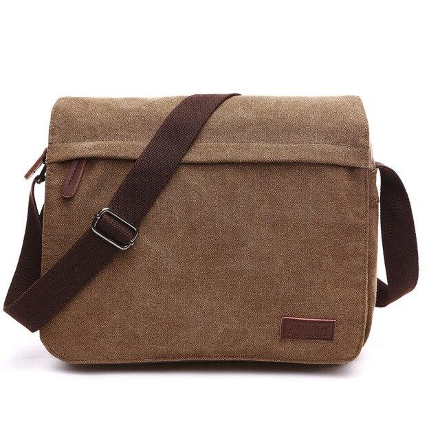 4c1184611695 Новый мужской посылка холст Повседневное Для мужчин мужская сумка студент  сумки для ноутбука Курьерские сумки Винтаж