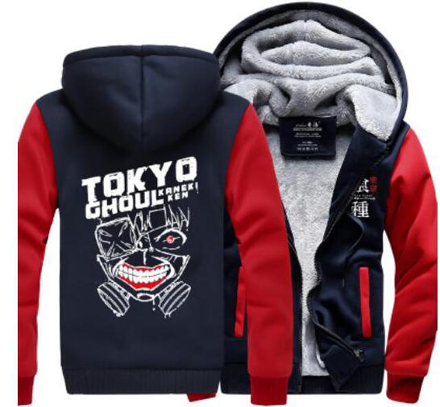 Tokyo ghoul Hoodie Anime Ken Kaneki Mask Thick Coat Sweatshirt