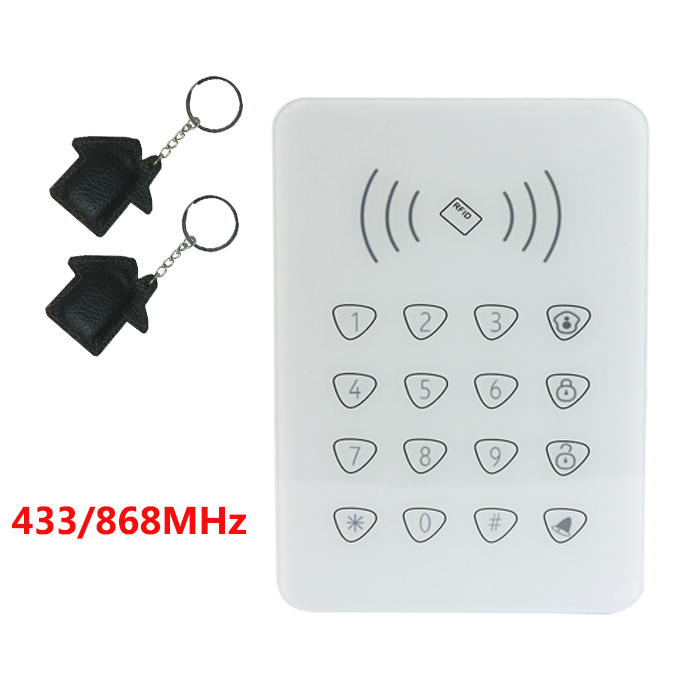 Arm/Disarm/Emergency alarm/Stay home remote control 433/868MHz wireless keypad for WIFI Home Alarm System pb 502r nice design 868mhz two way keypad with lcd backlight remote arm disarm 868mhz alarme maison