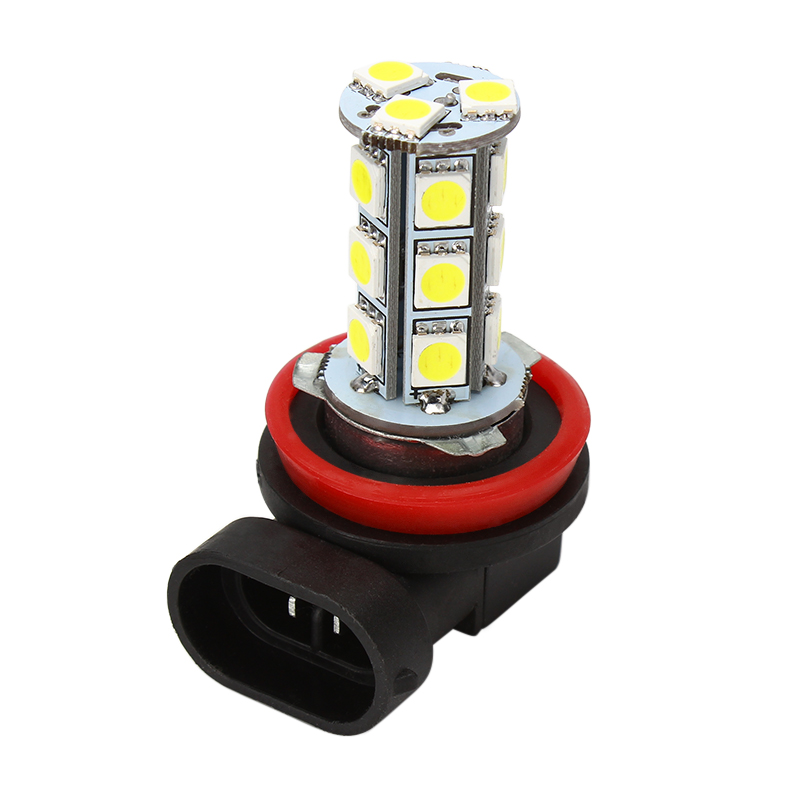 Universal LED Car Fog Light 5050 18 SMD H11 H8 Bulbs Super Bright White Headlight Head Lights Lamps Car-styling Auto Accessories 2pcs h1 led automobile headlight car styling 6000k super bright conversion kit auto head lights