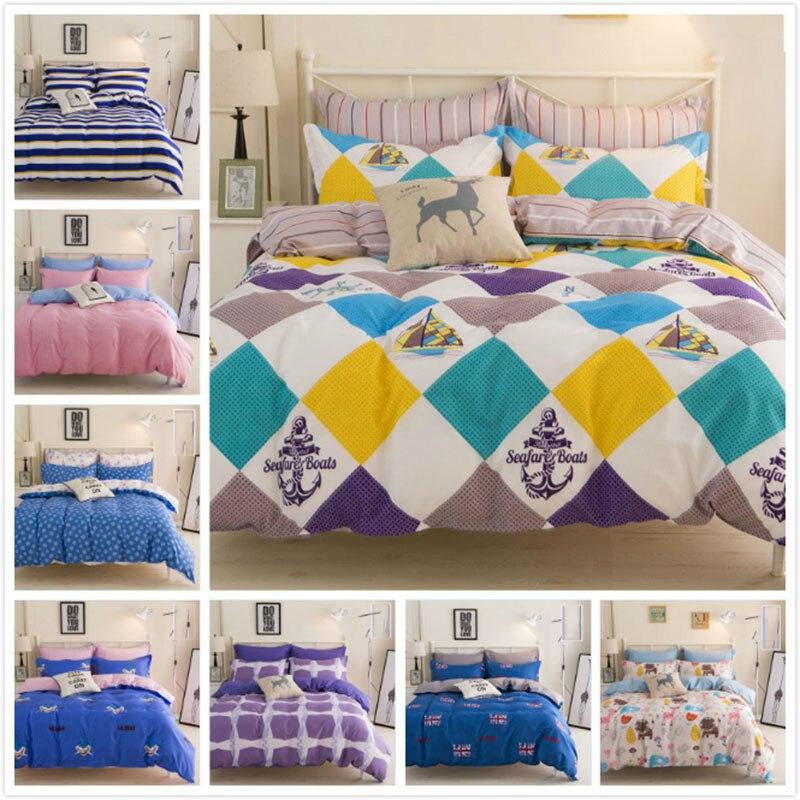 4pcs Bedding Set Full King Queen Twin Double Size Bed Sheet 1.5m 1.8m 2m 2.2m Duvet Cover Pillowcase Child Kids Bedlinen Cartoon