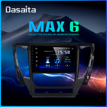 Dasaita 1 Din 9 Android 9.0 Radio Car For Mitsubishi Pajero Sport 2017 Bluetooth Player 4GB RAM Touch Screen12V image