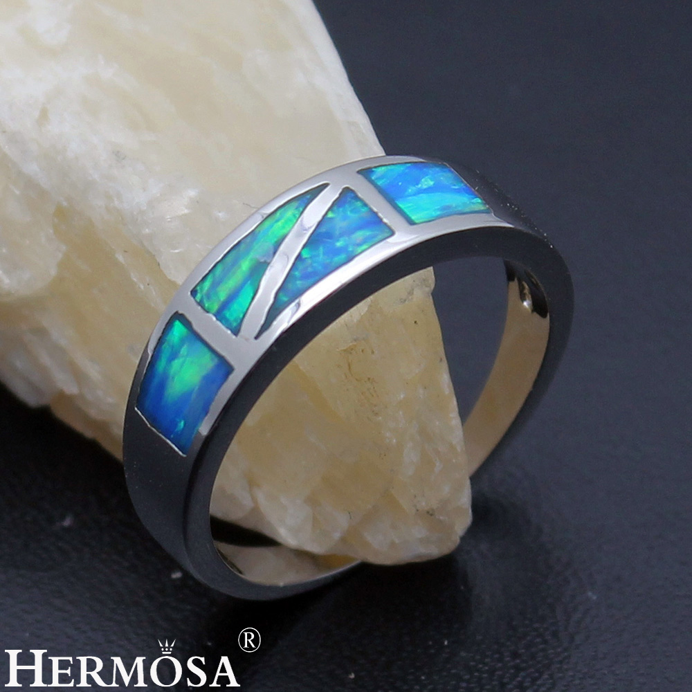 Big Promotion Special Design Natural Australian Opal 925 Sterling Silver Engagement Hot Ring Size 8 DF87