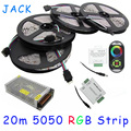 20M 5050 RGB strip light 60Leds/M SMD Flexible Led Strip+18A Wireless Touch Remote Controller+24A Amplifier+20 A Power WLED25