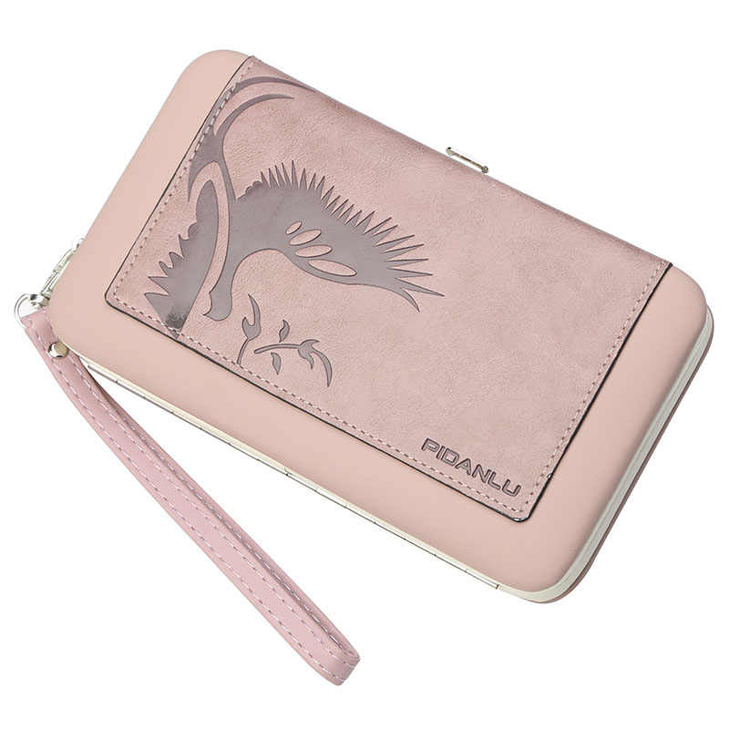 b5ab28520 Women Wallet New Fashion Ladies Long Wallet Zipper PU Leather Wallet Famous  Brand Clutch Purse Female