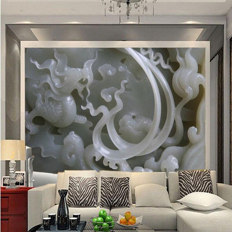 Beibehang Tapete 3d Foto Hintergrund Fotografie Chinesische Jade Skulptur  Relief Schlafzimmer Papier Mural Murals 3d Papel De Parede In Beibehang  Tapete 3d ...