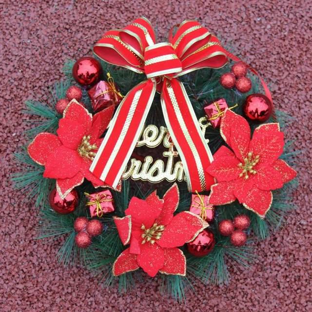 online shop new red plastic garlands christmas tree top diy hanging