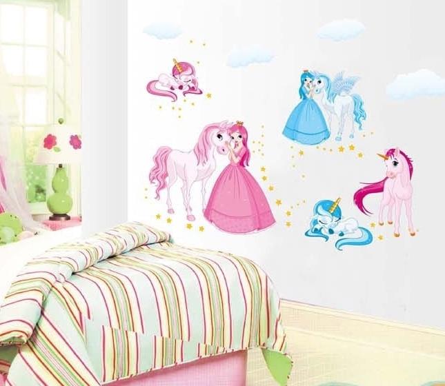 lovely horse animals wall stickers decals kids DIY vinyl cartoon piture wallpaper girls boys baby child room home nursery decor