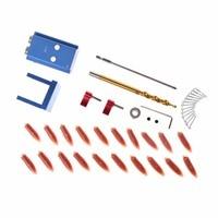 OOTDTY Mini Kreg Style Pocket Slant Hole Jig System Kit With Step Drilling Bit Wood Work