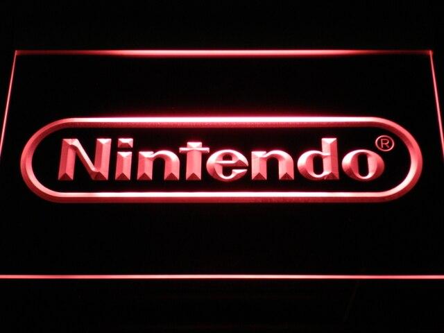 E021 Nintendo Game Room Bar Bier LED Neon Licht Zeichen mit Auf/Off Schalter 20 + Farben 5 Größen zu wählen gesendet in 24 stunden