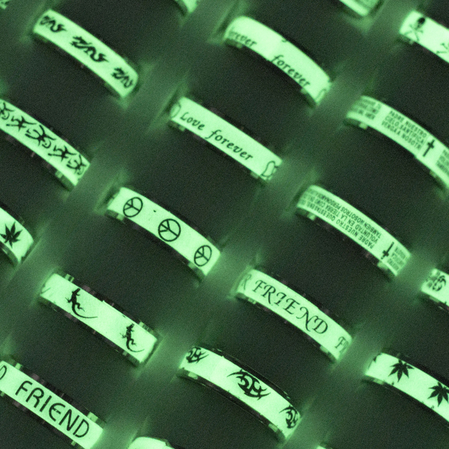 Gorący sprzedawanie 20 sztuk Mix styl Luminous ze stali nierdzewnej pierścienie ze stali nierdzewnej sprzedaż hurtowa biżuterii