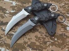 LW claws Karambit VG – 10 blade carbon fiber fixed blade knife KYDEX sheath EDC tool
