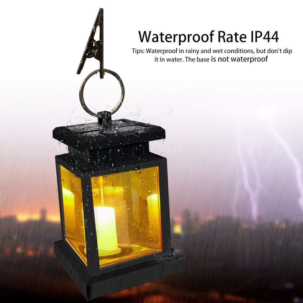 IP44 Waterproof Solar Lantern Hanging LED Candle Twinkle Light Festival Outdoor Garden Tree Umbrella Decoration Night Wall Lamp outdoor solar power led candle light yard garden decor tree palace lantern light hanging wall lamp clh 8