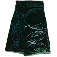 Free Shipping 5yards Pc High Quality Elegant Green African Silk Velvet Lace Fabric Soft And Smooth