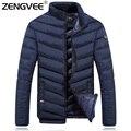 2017 Nueva Chaqueta De Invierno Para Hombre Collar del Soporte Acolchado Abrigo Cálido Outdoorwear Hombres A Prueba de Viento Wadded Abrigos