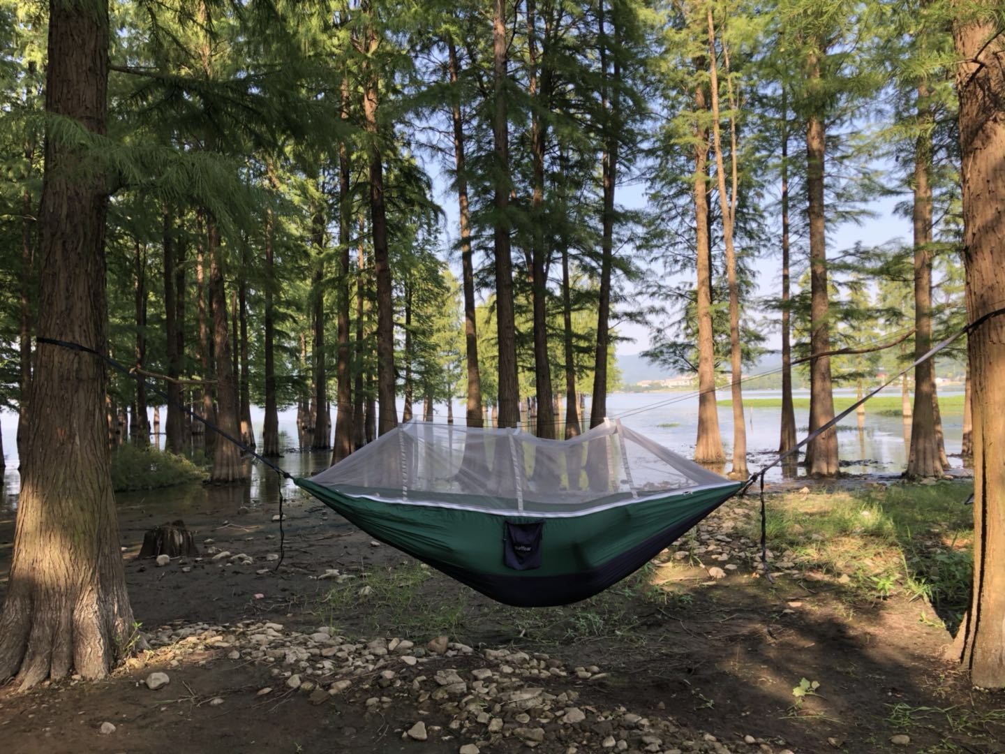 Anti mosquito Camping Parachute Can Customized Hanging Bed Outdoor Hammock Chair Stand Big Mosquito Net Net